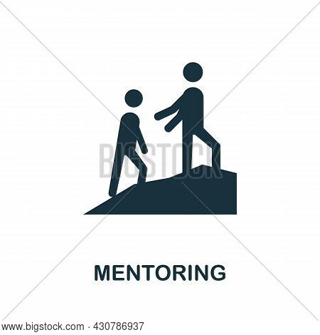 Mentoring Flat Icon. Colored Sign From Leadership Collection. Creative Mentoring Icon Illustration F