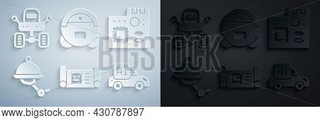 Set Robot Blueprint, Motherboard Digital Chip, Waiter Robot, Autonomous Smart Car, Vacuum Cleaner An