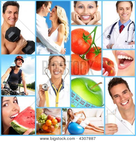People health diet healthy nutrition food fruits fitness medical doctor poster