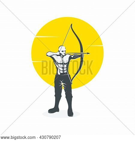 Illustration Archer Army Logo Design Vector Template