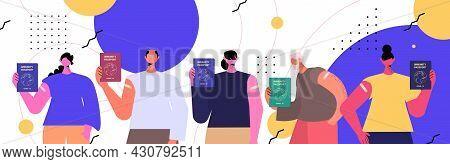 People Holding Global Immunity Passports Risk Free Covid-19 Re-infection Pcr Certificate Coronavirus