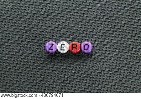 Round Letter Zero. No Quantity Or Number