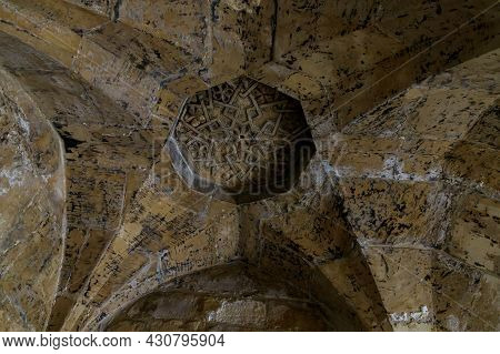 Decorated Ceiling In The Inner Passage In The Bab Al-silsila Minaret, On The Temple Mount In The Old