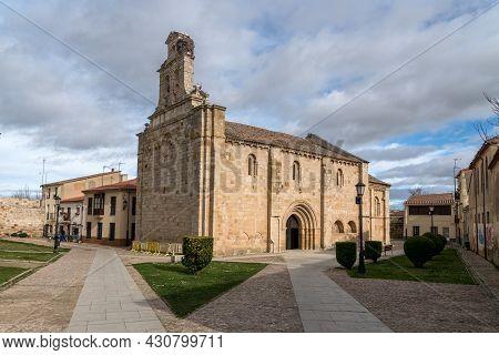 Zamora, Spain - February 02, 2020: View Of The Romanesque Church Of San Isidoro In Zamora. Castilla
