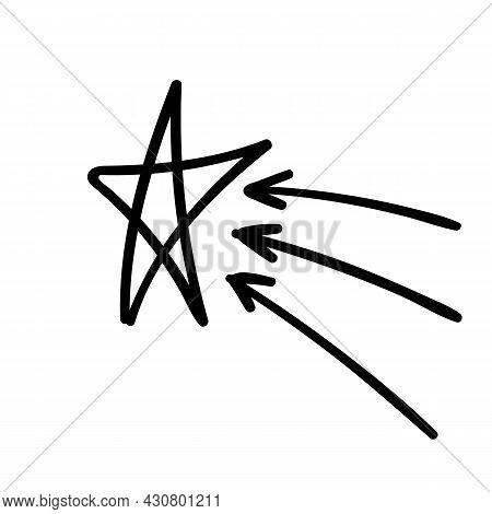 Star Arrow Vector Doodle Handdraw Vector Illustration