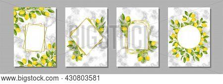 Marble And Lemon Brunches Mediterranean Templates Set