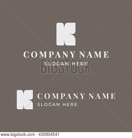 A Feminine Logo For A Company, Beauty Salon, Author Cosmetics Or Spa. Brand Mark For Business. Vecto