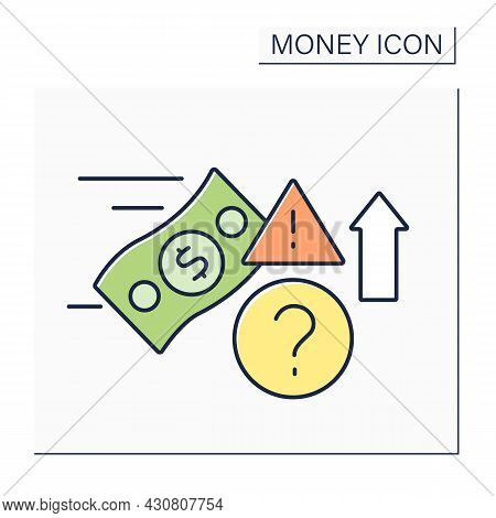 Speculate Color Icon. Speculative Trading.financial Transaction With Risk Of Losing Value. Money Con