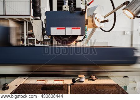 Grinding Machine Is Working In Manufacturing Facility