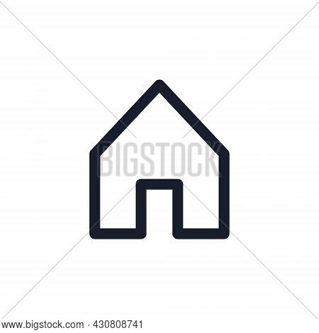 Kyiv, Ukraine - August 1, 2021: House Black Line Icon. Popular Instagram Media Element. Home, Real E