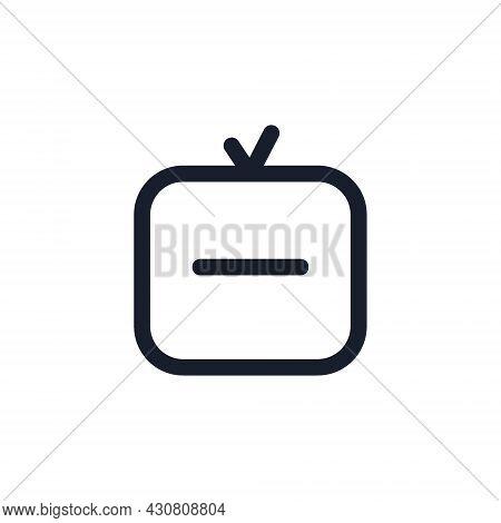 Kyiv, Ukraine - August 1, 2021: Igtv Black Line Icon. Popular Instagram Media Element. Tv, Live Tv S