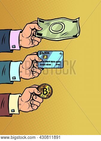 Payment Options, We Accept Cash, Bank Cards And Cryptocurrency