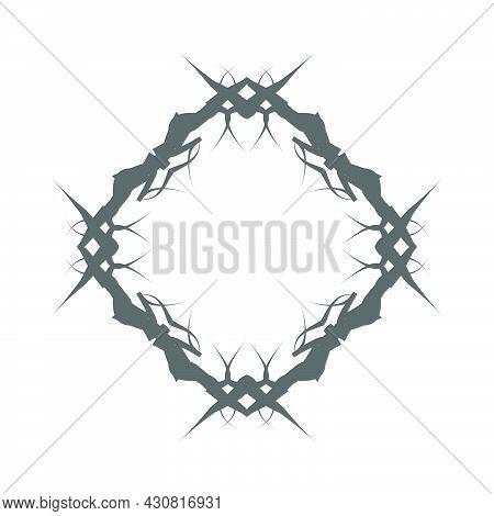 Border Frame Vector Design Illustration Element Decoration Art. Abstract Ornament Border Frame Retro