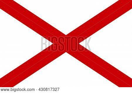 Flag Alabama Vector Illustration Symbol National Country Icon. Freedom Nation Flag Alabama Independe