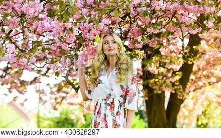 Happy Spring Day. Floral Aroma. Harmony And Female Energy. Spring Blossoming Tree. Spring Symbol. Re