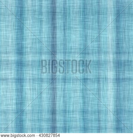 Classic Blue Woven Check Masculine Shirt Fabric Texture. Navy Space Dyed Marled Melange Background.