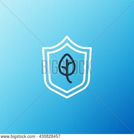 Line Vegan Food Diet Icon Isolated On Blue Background. Organic, Bio, Eco Symbol. Vegan, No Meat, Lac
