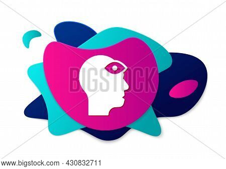 Color Man With Third Eye Icon Isolated On White Background. The Concept Of Meditation, Vision Of Ene