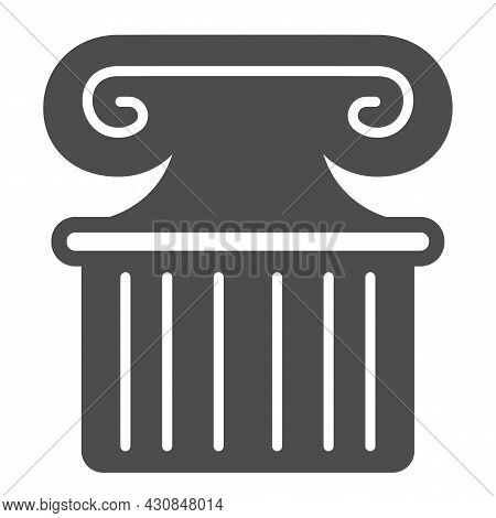 Ancient Greek Column Solid Icon, Theater Concept, Part Of Antique Greek Pillar Vector Sign On White