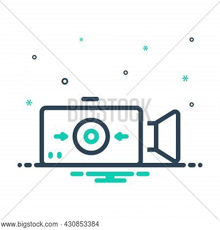 Mix Icon For Record Electronic Video-player Broadcast Recorded Demonstrate Player Broadcasting Multi
