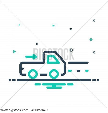 Mix Icon For Go Go-away Vehicle One-the-way Street Roadway Route Speed Truck