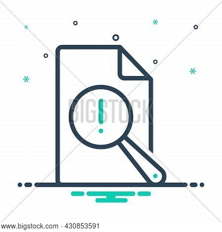 Mix Icon For Vulnerable Report Risk Analysis Research Check Review Document Antivirus