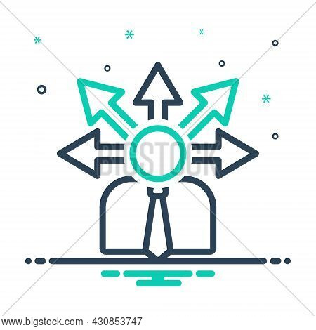 Mix Icon For Opportunity Chance Lucky-chance Possibility Occasion Arrow Direction Career