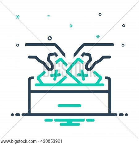 Mix Icon For Democracy Voting Polling Elect Vote-for Vote-in Ballot Select Pick Election Ballot-box
