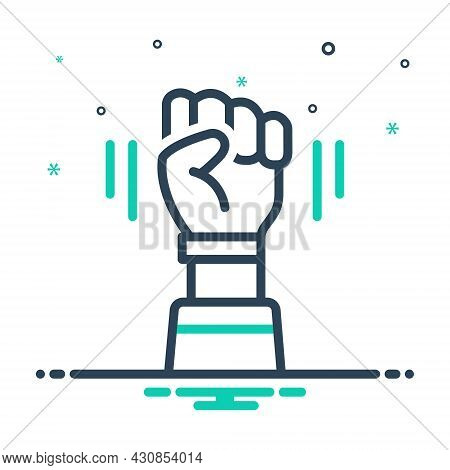 Mix Icon For Opposition Sloganeering Protest Antagonism Friction Fight Freedom Hindrance Interrupt