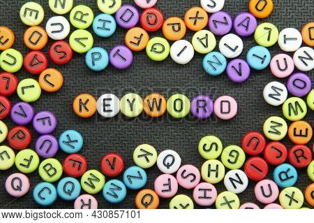 Letters Of The Alphabet With The Word Keyword Or Seo