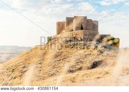 Romanesque Castle On Top Of A Hill In Summer
