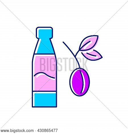 Taiwanese Plum Wine Flat Icon. Oriental Fruit Wine Bottle. Asian Alcohol Drink Umeshu. Color Filled