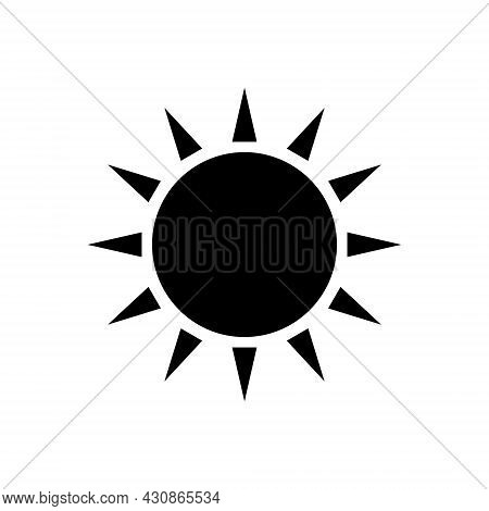 Taiwanese Flag Symbol Glyph Icon. Taiwan. Oriental Sun. Asian Item. Black Filled Symbol. Isolated Ve