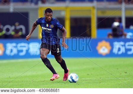 Milano, 21 August 2021. Denzel Dumfries Of Fc Internazionale    During The Serie A Match Between Fc