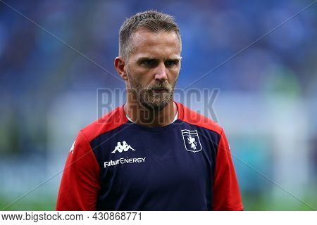 Milano, 21 August 2021. Domenico Criscito Of Genoa Cfc  During Warm Up Before  The Serie A Match Bet