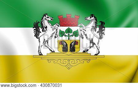 3d Flag Of Bassum (lower Saxony), Germany. 3d Illustration.