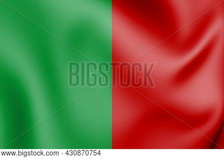 3d Flag Of Fosses-la-ville (namur Province), Belgium. 3d Illustration.