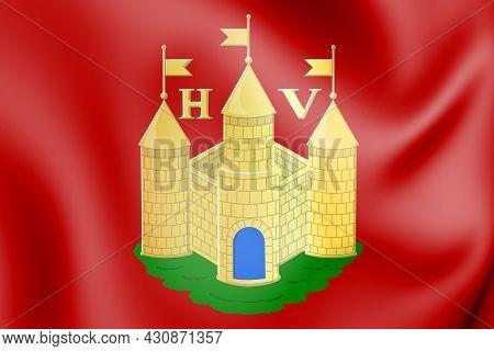 3d Huy Coat Of Arms (liege Province), Belgium. 3d Illustration.