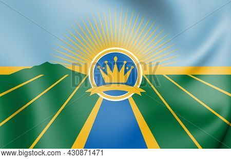 3d Flag Of Imperial County (california State), Usa. 3d Illustration.