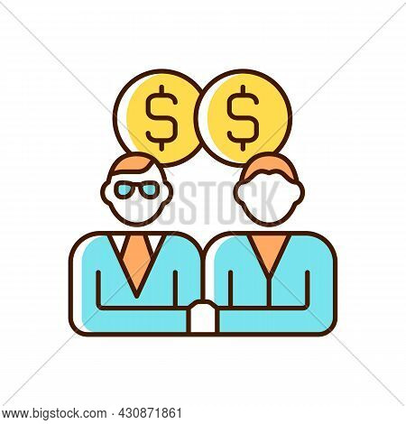 Sales Representative Rgb Color Icon. Person That Presents And Sells Products And Services. Showcase