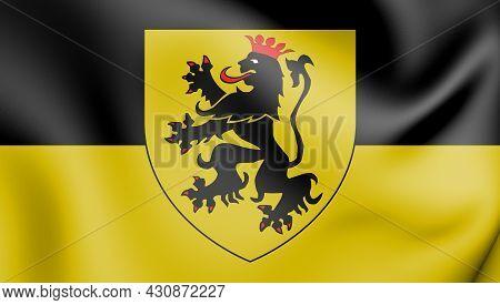 3d Flag Of Namur, Belgium. 3d Illustration.