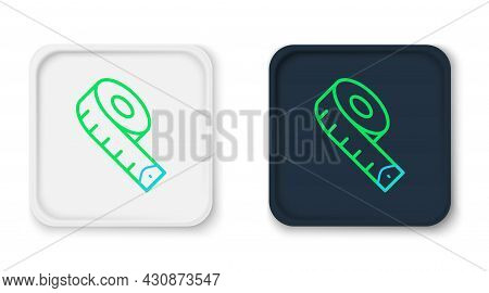 Line Measuring Tape Icon Isolated On White Background. Tape Measure. Colorful Outline Concept. Vecto