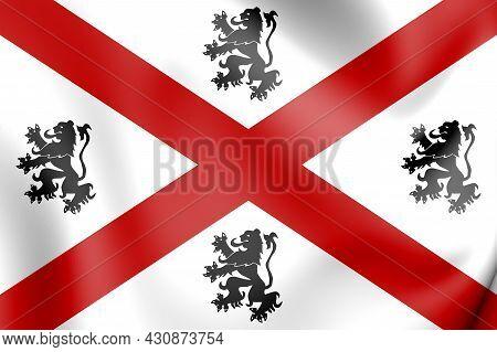 3d Flag Of Seraing (liege Province), Belgium. 3d Illustration.