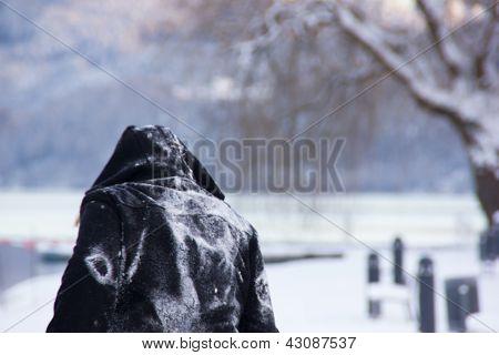 Person In A Snowscape