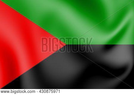 3d National Liberation Front Of Martinique Flag. 3d Illustration.