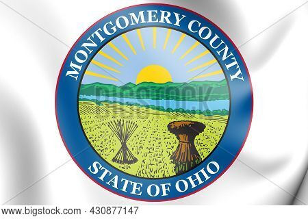 3d Seal Of Montgomery County (ohio State), Usa. 3d Illustration.