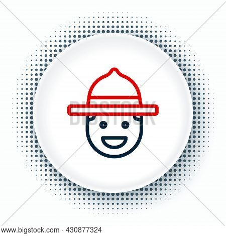 Line Canadian Ranger Hat Uniform Icon Isolated On White Background. Colorful Outline Concept. Vector