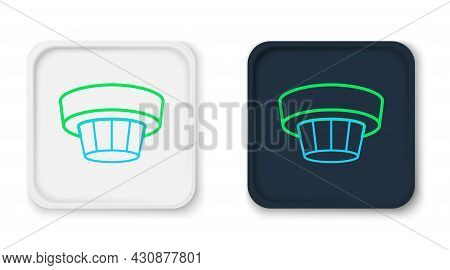 Line Smoke Alarm System Icon Isolated On White Background. Smoke Detector. Colorful Outline Concept.