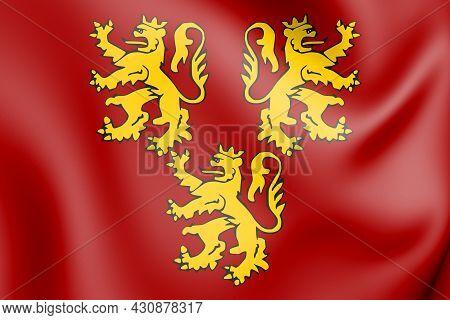 3d Chievres Coat Of Arms (hainaut Province), Belgium. 3d Illustration.