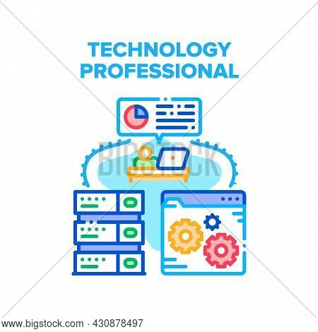 Technology Professional Tool Vector Icon Concept. Technology Professional Server And Developing Soft
